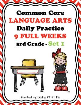 Common Core Daily Language Arts Morning Work - Set 1
