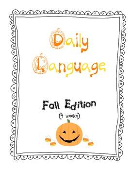 Common Core Daily Language Fall