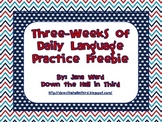 Common Core Daily Language Practice Freebie (3 Weeks)
