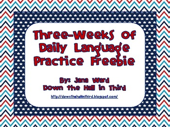 Common Core Daily Language Practice Freebie (3 Weeks)