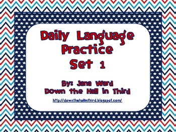 Common Core Daily Language Practice Set 1 (First Nine Weeks)