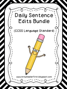 First Grade Sentence Editing Bundle