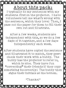 First Grade Sentence Editing: December