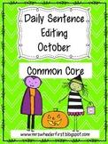 First Grade Sentence Editing: October