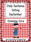 First Grade Sentence Editing: September