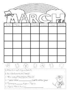 Common Core Daily Language for First Grade March