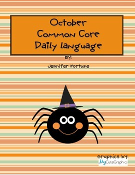 Common Core Daily Language for First Grade October