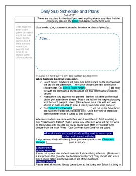 Common Core Daily Lesson Plan Template