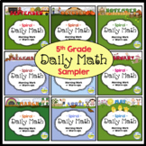 Spiral Daily Math - 5th Grade Sample Pages