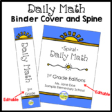 Common Core Daily Math Binder Cover and Spine