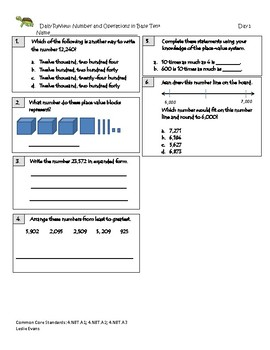 Common Core Daily Math Review 1
