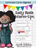 Common Core Daily Math Warm Ups - 2nd Grade April