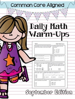 Common Core Daily Math Warm Ups - 2nd Grade September