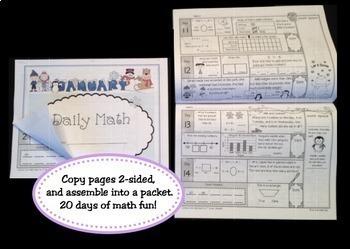 Morning Work Daily Math 1st Grade: Jan - May Bundle