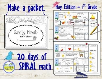 Morning Work Spiral Math   1st Grade May