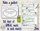Morning Work Spiral Daily Math 1st Grade: Sept - Dec BUNDLE