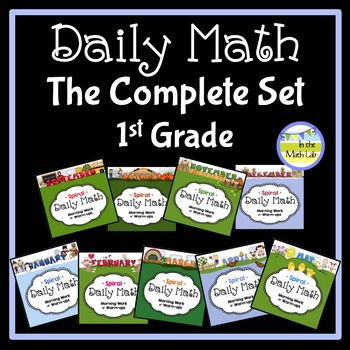 Morning Work Daily Math for 1st Grade - Complete Set