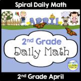 Morning Work Spiral Daily Math | 2nd Grade April