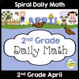 Morning Work Spiral Daily Math | 2nd Grade April