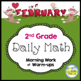Morning Work Spiral Daily Math | 2nd Grade February