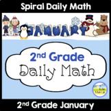 2nd Grade Morning Work Spiral Daily Math | January
