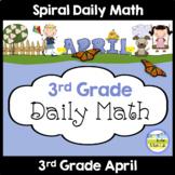 Morning Work Spiral Math   3rd Grade April