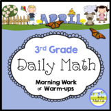 Morning Work Spiral Daily Math | 3rd Grade April