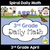 Distance Learning Math | Spiral Daily Math | 3rd Grade April