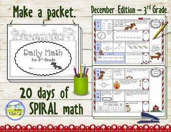 Morning Work | 3rd Grade December