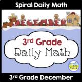 Morning Work Spiral Daily Math | 3rd Grade December