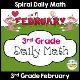 Morning Work Spiral Daily Math | 3rd Grade February