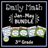 Morning Work Spiral Daily Math 3rd Grade: Jan - May Bundle