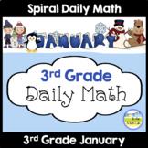 3rd Grade Morning Work Spiral Daily Math | January
