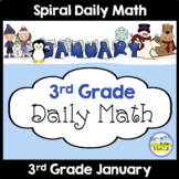 Morning Work Spiral Daily Math | 3rd Grade January