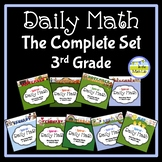 Morning Work Spiral Daily Math 3rd Grade: Complete Set BUNDLE