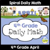 Morning Work Spiral Daily Math | 4th Grade April