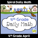 Distance Learning Packets | Spiral Daily Math | 4th Grade April