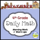 Morning Work Spiral Daily Math   4th Grade December