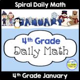 4th Grade Morning Work Spiral Daily Math | January