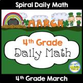 Morning Work Spiral Math | 4th Grade March