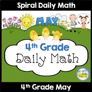 Morning Work   4th Grade May