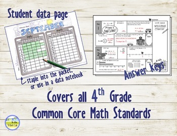 Morning Work Daily Math for 4th Grade: Sept - Dec Bundle