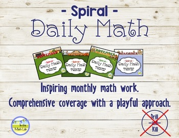 Morning Work Spiral Daily Math 4th Grade: Sept - Dec BUNDLE