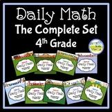 Morning Work Spiral Daily Math 4th Grade: Complete Set BUNDLE