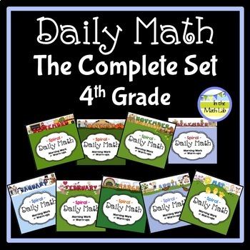 Morning Work Daily Math for 4th Grade: The Complete Set