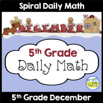 Morning Work | 5th Grade December