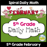 Morning Work Spiral Daily Math | 5th Grade February
