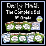 Morning Work Spiral Daily Math 5th Grade: Complete Set BUNDLE