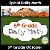 Morning Work Spiral Math | 5th Grade October