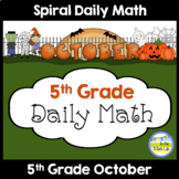Morning Work Spiral Daily Math | 5th Grade October